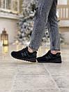 Кросівки зимові жіночі New Balance 574 Black, чорні, фото 8