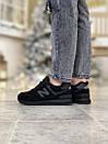 Кросівки зимові жіночі New Balance 574 Black, чорні, фото 3