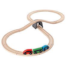 IKEA LILLABO (003.200.54) Железная дорога, 20 штук, разноцветный