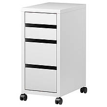 IKEA MICKE (902.130.78) Комод на колесиках, белый