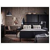 IKEA HEMNES (890.022.70) Кровать, белый, Luroy, фото 4