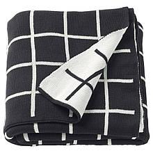 IKEA ALMALIE (603.522.78) Плед, черный, белый