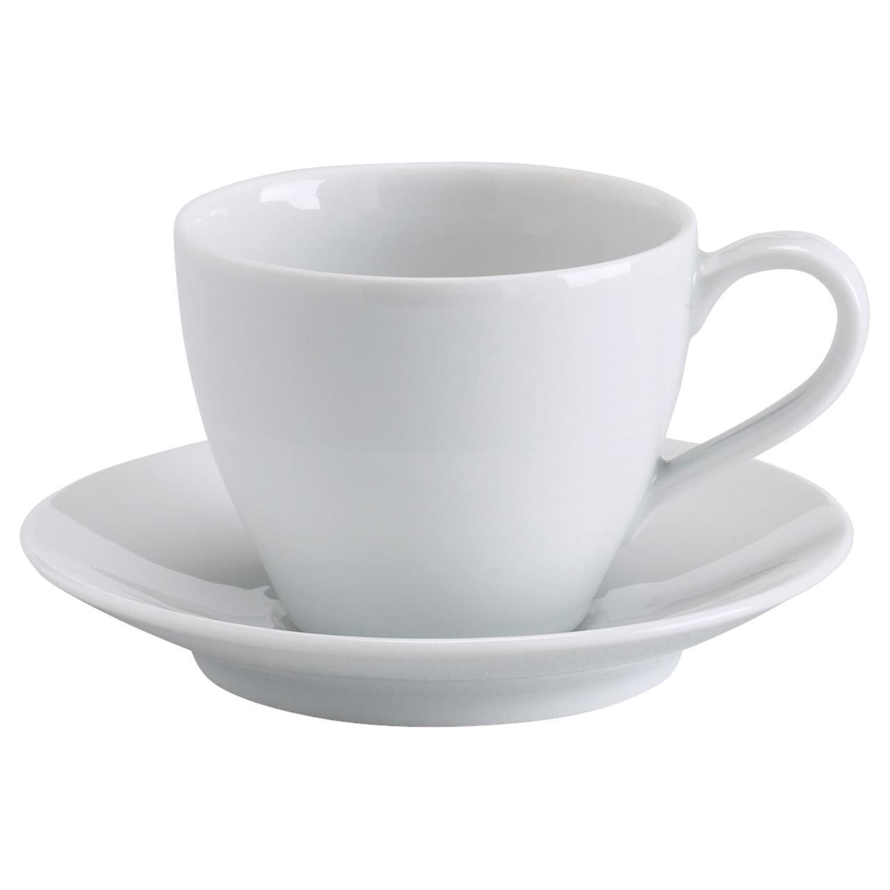 IKEA VARDERA (602.774.63) Чашка кофейная с блюдцем, белый