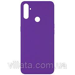 Чехол Silicone Cover Full without Logo (A) для Realme C3 Фиолетовый / Purple