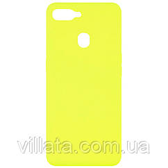 Чехол Silicone Cover Full without Logo (A) для Oppo A5s / Oppo A12 Желтый / Flash