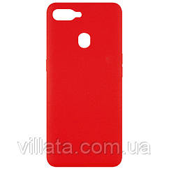 Чехол Silicone Cover Full without Logo (A) для Oppo A5s / Oppo A12 Красный / Red