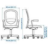 IKEA FLINTAN / NOMINELL (292.081.94) Рабочий стул с подлокотниками, серый, фото 5