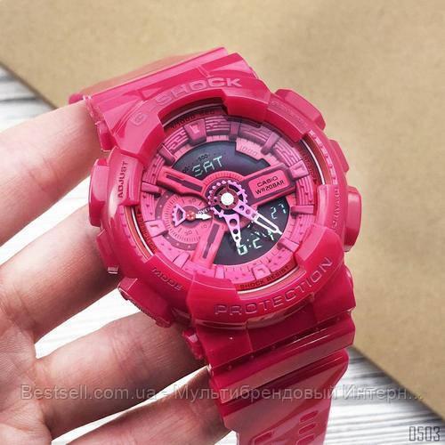 Годинники наручні жіночі червоні Casio G-Shock AAA GA-110 Red / касіо джишок червоні