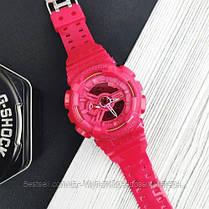 Годинники наручні жіночі червоні Casio G-Shock AAA GA-110 Red / касіо джишок червоні, фото 2