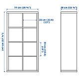 IKEA KALLAX (990.174.45) Шкаф/2 вставки, черно-коричневый, фото 3