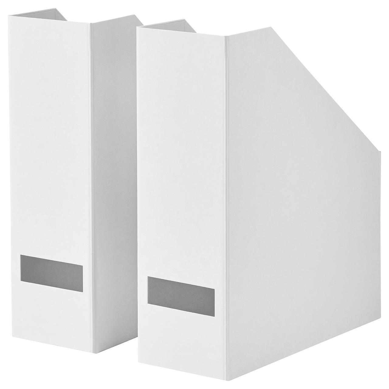 IKEA TJENA (103.954.16) Подставка для журналов, белое