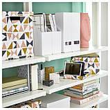 IKEA TJENA (103.954.16) Подставка для журналов, белое, фото 5