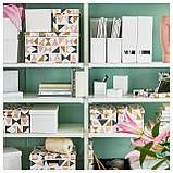 IKEA TJENA (103.954.16) Подставка для журналов, белое, фото 6