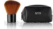 Кисть для нанесення пудри натуральна NYX в кошелечке