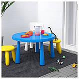 IKEA MAMMUT (903.651.80) Детский стол, синий, фото 2