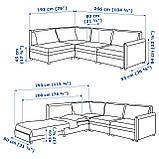 IKEA Модульная секция дивана VALLENTUNA (692.770.91), фото 6