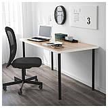 IKEA LINNMON / ADILS (192.156.75) Стол, белый дуб, окрашенный в белый цвет,, фото 2