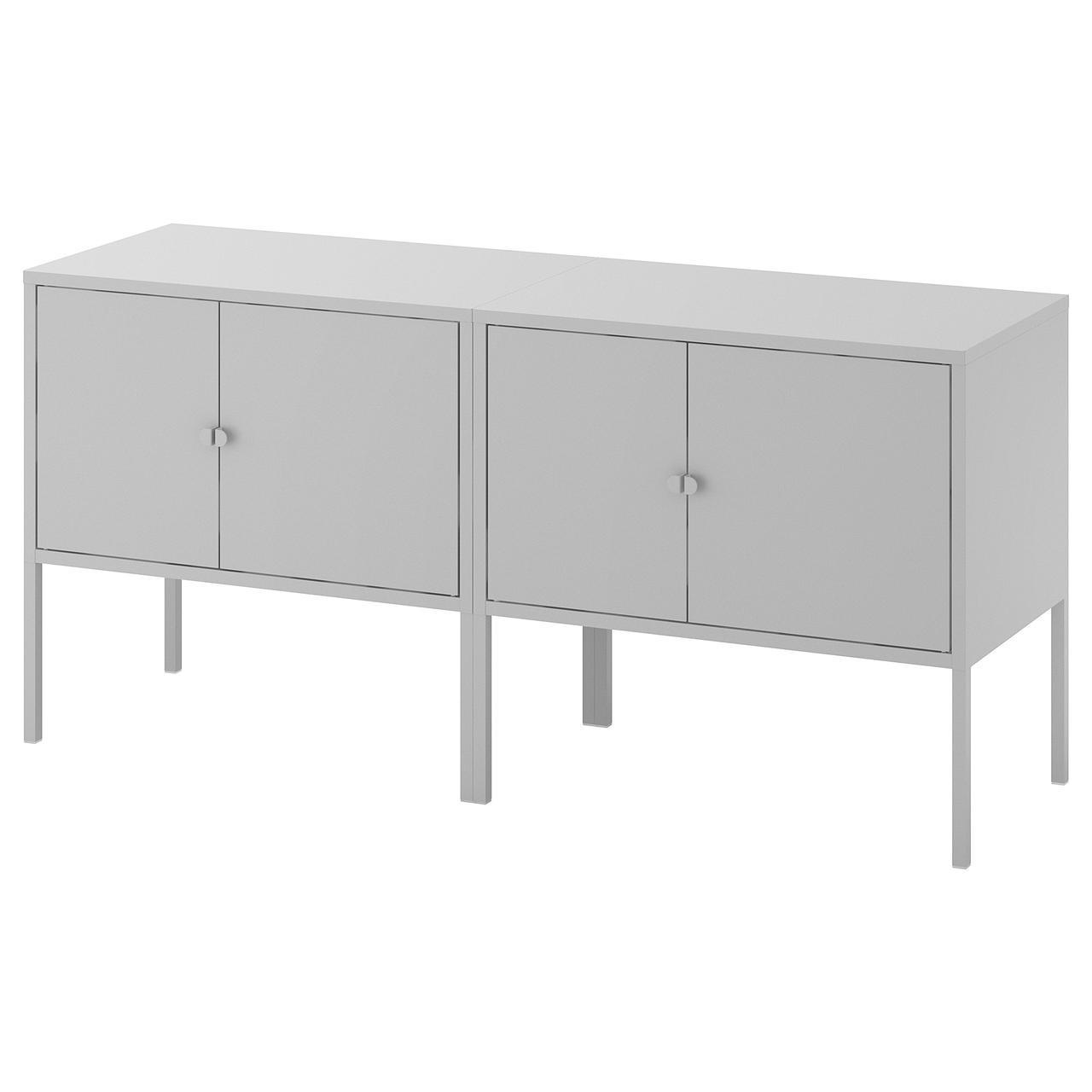 IKEA LIXHULT (192.791.77) Комбинация шкафов, серый