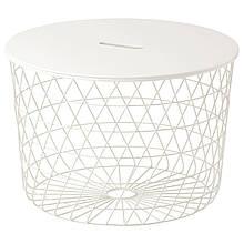 IKEA KVISTBRO (503.222.39) Стіл з місцем для зберігання, білий