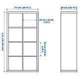 IKEA KALLAX (202.758.85) Шкаф, черный, фото 4
