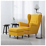 IKEA STRANDMON (903.618.94) Кресло, Skirtteum Желтый, фото 2