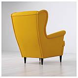 IKEA STRANDMON (903.618.94) Кресло, Skirtteum Желтый, фото 3