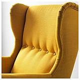 IKEA STRANDMON (903.618.94) Кресло, Skirtteum Желтый, фото 6