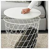 IKEA KVISTBRO (303.494.52) Журнальный столик, с местом для хранения, бирюзовый, фото 3