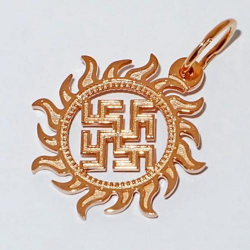купить двухсторонний славянский оберег Цветок Папоротника Одолень Трава из золота