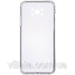 TPU чехол GETMAN Clear 1,0 mm для Xiaomi Poco X3 NFC