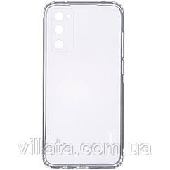 TPU чехол GETMAN Clear 1,0 mm для Samsung Galaxy S20 FE