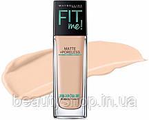 Основа тональна основа Maybelline Fit Me Matte Poreless - 30 мл(Палітрами-А(№110,115,125)В( №112,120,238)