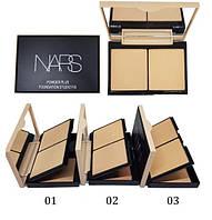 Двойная компактная пудра Nars Powder Plus Foundation Studio Fix (Палитра 3 шт. - №1,2,3)   811