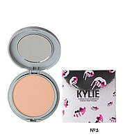 Компактная Пудра Kylie Powder Plus Foundation (Палитрами А(№1,3,5), В (№2,4,6) СЕРЕБРЯНАЯ коробка