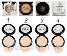 Пудра Kylie компактная (ПАЛИТРОЙ - 4 ШТ № 1,2,3,4) Чёрные капли на белом фоне   766
