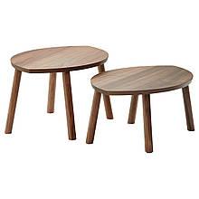 IKEA STOCKHOLM (102.397.13) Журнальний столик, 2 шт., Волоський горіх