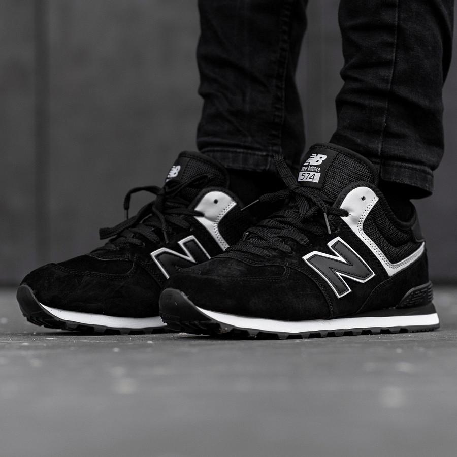 Кросівки зимові чоловічі New Balance 574, чорні
