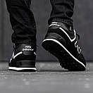 Кросівки зимові чоловічі New Balance 574, чорні, фото 2