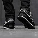 Кроссовки зимние мужские New Balance 574, черные, фото 2