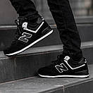 Кроссовки зимние мужские New Balance 574, черные, фото 3
