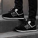Кросівки зимові чоловічі New Balance 574, чорні, фото 5