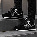 Кроссовки зимние мужские New Balance 574, черные, фото 5