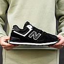 Кросівки зимові чоловічі New Balance 574, чорні, фото 7