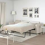 VIMLE ВІМЛЕ 3-місний диван-ліжко - з кушеткою/ГУННАРЕД бежевий - IKEA, фото 3