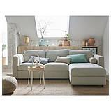 VIMLE ВІМЛЕ 3-місний диван-ліжко - з кушеткою/ГУННАРЕД бежевий - IKEA, фото 9