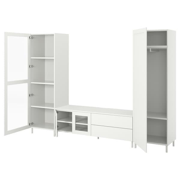 PLATSA ПЛАТСА Комбінація шаф для телев 4дверц,2шх - білий/ФОННЕС ВЕРД - IKEA