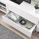 PLATSA ПЛАТСА Комбінація шаф для телев 4дверц,2шх - білий/ФОННЕС ВЕРД - IKEA, фото 3