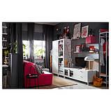 PLATSA ПЛАТСА Комбінація шаф для телев 4дверц,2шх - білий/ФОННЕС ВЕРД - IKEA, фото 5