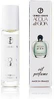 Жіночі парфуми масляні Giorgio Armani Acqua di Gioia 10 мл, стійкі, свіжі, солодкі, парфум, Армані