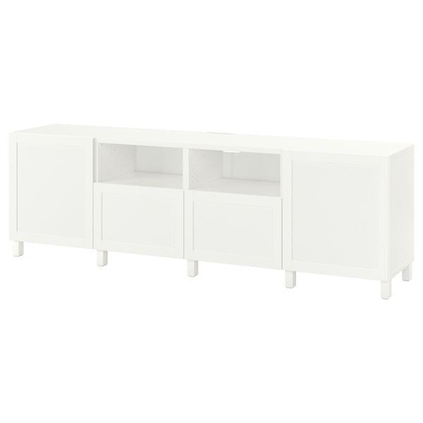 BESTÅ БЕСТО Тумба для телевізора з дверц й шухл - білий/ХАНВ/СТУББАРП білий - IKEA